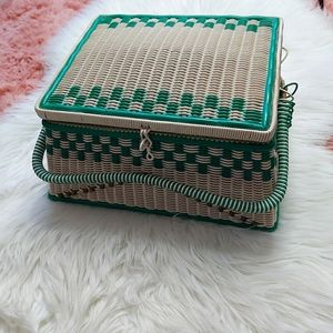 Vintage Wicker Sewing Basket by Bacon Basket